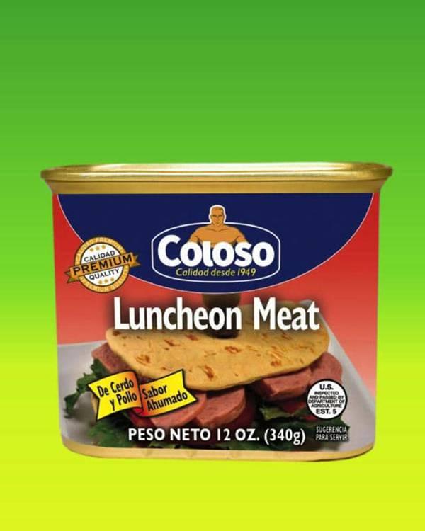 Deliciosas recetas confeccionadas con pastas Coloso. La mejor calidad, a un precio a tu alcance. - Luncheon Meat de Cerdo y Pollo