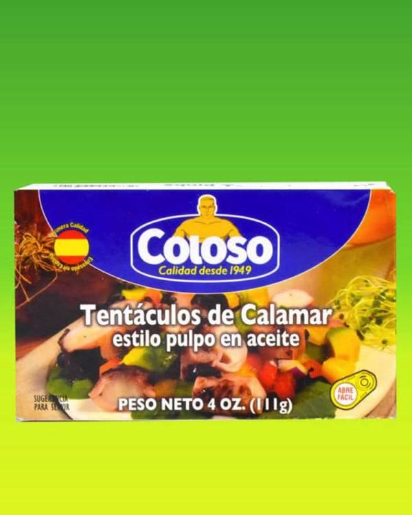 Deliciosas recetas confeccionadas con tentáculos de calamar Coloso. La mejor calidad, a un precio a tu alcance. - Tentáculos de Calamar Estilo Pulpo en Aceite