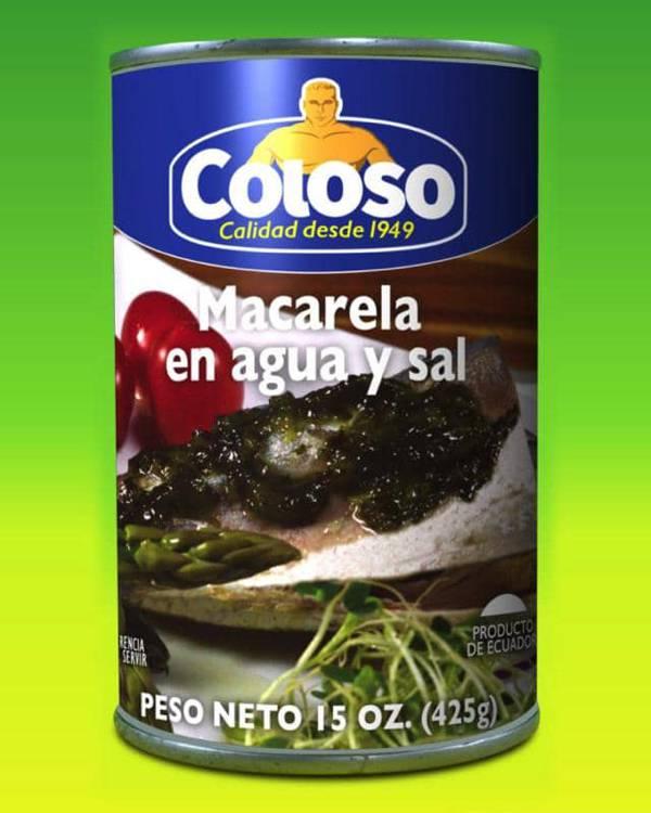 Deliciosas recetas confeccionadas con macarela Coloso. La mejor calidad, a un precio a tu alcance. - Macarela en Agua y Sal
