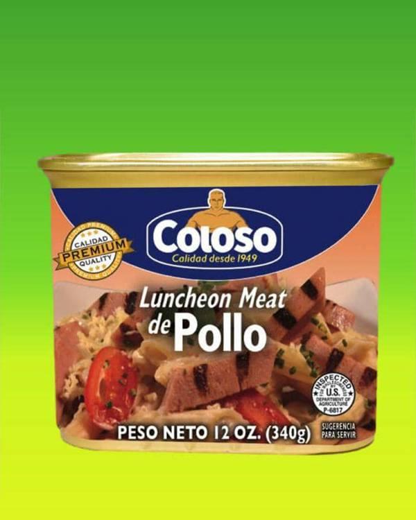 Deliciosas recetas confeccionadas con pastas Coloso. La mejor calidad, a un precio a tu alcance. - Luncheon Meat de Pollo