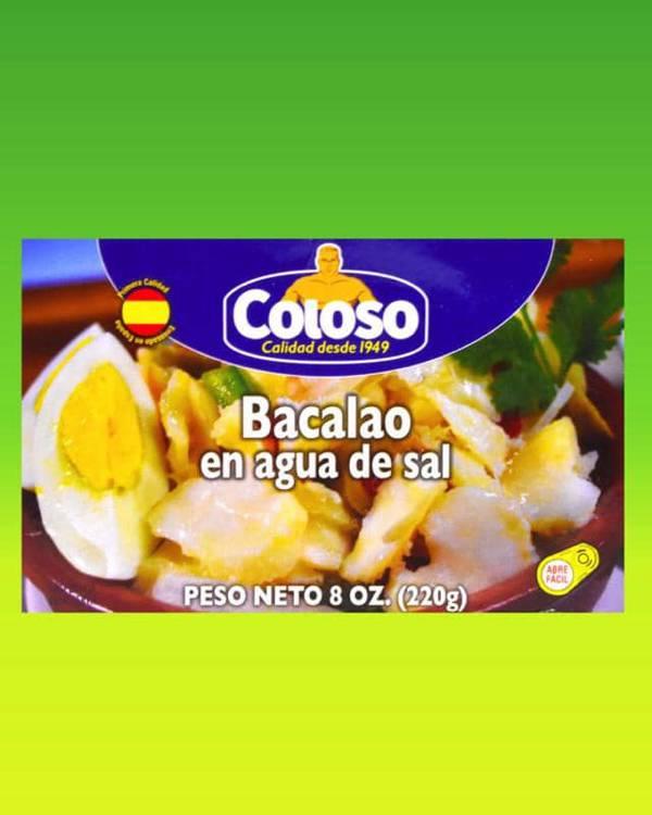 Deliciosas recetas confeccionadas con pastas Coloso. La mejor calidad, a un precio a tu alcance. - Bacalao en agua y sal