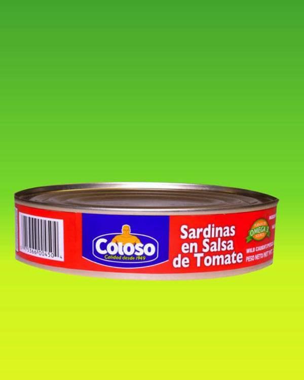 Deliciosas recetas confeccionadas con sardinas Coloso. La mejor calidad, a un precio a tu alcance. - Sardinas en Salsa de Tomate Coloso (ovalada)
