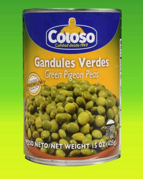 Deliciosas recetas confeccionadas con gandules Coloso. La mejor calidad, a un precio a tu alcance. - Gandules Verdes Premium