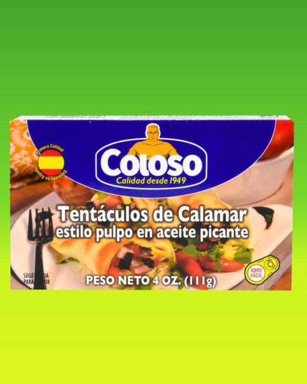Deliciosas recetas confeccionadas con tentáculos de calamar Coloso. La mejor calidad, a un precio a tu alcance. - Tentáculos de Calamar estilo pulpo en aceite picante